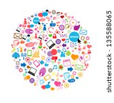 social network background with... | Shutterstock .eps vector #135588065