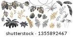 set dark  gold and silver... | Shutterstock .eps vector #1355892467