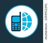 telephone icon colored symbol....   Shutterstock . vector #1355912291
