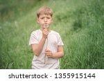 portrait of a beautiful boy... | Shutterstock . vector #1355915144