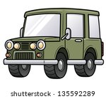 Vector illustration of cartoon car - stock vector