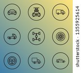 automobile icons line style set ...   Shutterstock .eps vector #1355925614