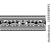 tribal pattern tattoo ... | Shutterstock .eps vector #1355938991