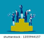 business analysis team. concept ... | Shutterstock .eps vector #1355944157