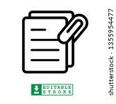 best document attachment icon  | Shutterstock .eps vector #1355954477