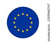 european union circle flag | Shutterstock .eps vector #1355960747