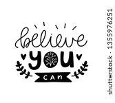 believe you can. vector...   Shutterstock .eps vector #1355976251