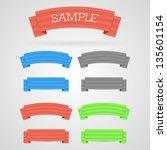 vector set of color retro... | Shutterstock .eps vector #135601154