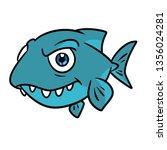 Predatory Fish Jaw Piranha...
