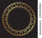 antique greek style gold... | Shutterstock .eps vector #1356043064
