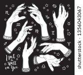 hand drawn set of female... | Shutterstock .eps vector #1356043067
