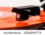 close up of turntable needle on ... | Shutterstock . vector #1356044774