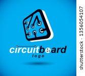 vector microchip design  cpu.... | Shutterstock .eps vector #1356054107