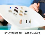 closeup of a selection of... | Shutterstock . vector #135606695