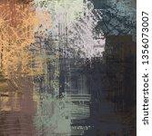 abstract texture. 2d... | Shutterstock . vector #1356073007