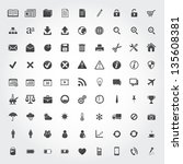set of quality icon business... | Shutterstock .eps vector #135608381