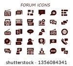 forum icon set. 30 filled forum ... | Shutterstock .eps vector #1356084341