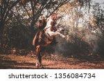 cowboy on horseback.cowboy... | Shutterstock . vector #1356084734
