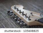 electrical guitar head closeup | Shutterstock . vector #135608825