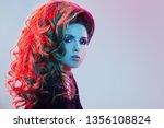 fashion portrait of beautiful...   Shutterstock . vector #1356108824