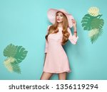 portrait of fashion young woman ... | Shutterstock . vector #1356119294
