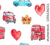 watercolor seamless pattern... | Shutterstock . vector #1356136211
