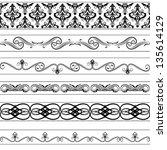vector vintage borders set | Shutterstock .eps vector #135614129