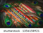 colorful painted sticks and... | Shutterstock . vector #1356158921