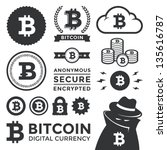 vector illustration of bitcoin... | Shutterstock .eps vector #135616787