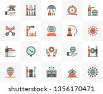 flat line icons set of business ... | Shutterstock .eps vector #1356170471
