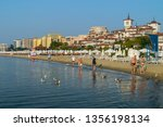 sunny beach  bulgaria   2 sep... | Shutterstock . vector #1356198134