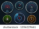set speedometers  icon group... | Shutterstock . vector #1356229661