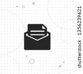 mail  vector best flat icon on... | Shutterstock .eps vector #1356239621