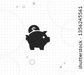 piggy bank  saving money ... | Shutterstock .eps vector #1356245561
