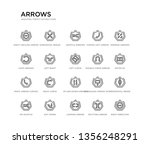 set of 20 line icons such as up ... | Shutterstock .eps vector #1356248291
