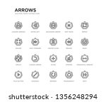 set of 20 line icons such as... | Shutterstock .eps vector #1356248294