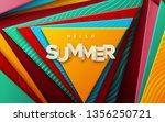 hello summer sign. modern cover ...   Shutterstock .eps vector #1356250721