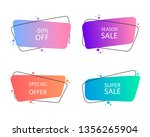 geometric hand drawn banners.... | Shutterstock .eps vector #1356265904