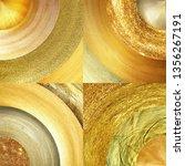 abstract golden circles... | Shutterstock . vector #1356267191