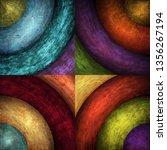 abstract grunge circles... | Shutterstock . vector #1356267194