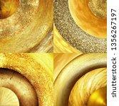 abstract golden circles... | Shutterstock . vector #1356267197