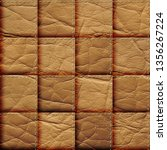 seamless leather patchwork... | Shutterstock . vector #1356267224