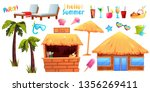summer set of objects and... | Shutterstock .eps vector #1356269411