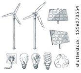 alternative eco and renewable... | Shutterstock .eps vector #1356273554