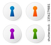 color keyhole icon on white... | Shutterstock .eps vector #1356279881