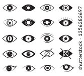 eye signs black thin line icon... | Shutterstock .eps vector #1356283697