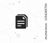 files  vector best flat icon on ... | Shutterstock .eps vector #1356285704