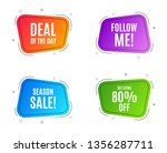geometric banners. get extra 80 ... | Shutterstock .eps vector #1356287711