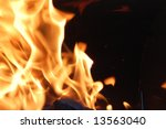 Orange Fire - stock photo