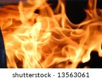 Bright fire - stock photo